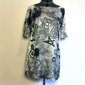 Rare Disney Couture Mickey Shirt Dress